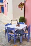 Greek terrace Stock Photo