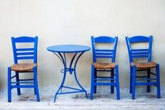 Greek terrace Stock Photography