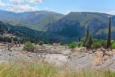 Greek theater in Delphi, Greece Royalty Free Stock Photography