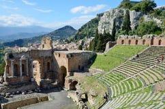 Greek theater restored Stock Photo