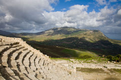 Greek theater, Segesta Royalty Free Stock Image