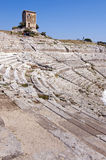 Greek theater in Siracusa Sicily Stock Photography