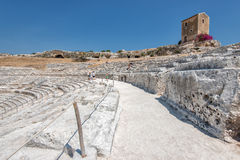 The Greek theater in Syracuse, Sicily Royalty Free Stock Photos