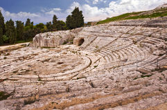 Greek theater in Syracuse, Sicily, Italy Stock Photography