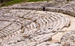 Greek theater in Syracuse, Sicily, Italy Stock Image
