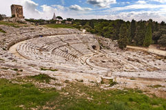 Greek theater in Syracuse, Sicily, Italy Royalty Free Stock Photo