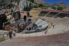 Greek theater taormina Royalty Free Stock Image