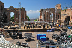 Greek theater taormina 2 Stock Photos