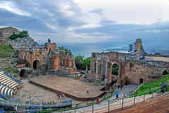 Greek theater of Taormina Royalty Free Stock Image