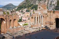 Greek theater, Taormina Stock Photography