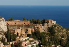 Greek Theater, Taormina, Sicily Stock Image