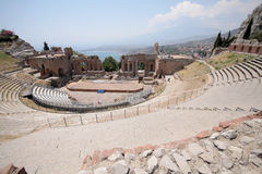 The Greek Theater Taormina, Sicily Stock Photo