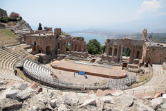 The Greek Theater Taormina, Sicily Royalty Free Stock Photography