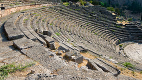 Greek Theatre in Delphi Stock Photos