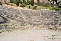 Greek theatre in delphi Stock Images