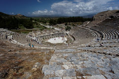 Greek Theatre of Ephesus Stock Images