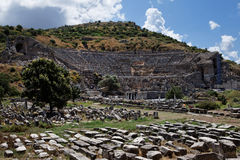 Greek Theatre of Ephesus Stock Photography