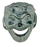 Greek Theatre Mask SATYR. Ceramic Theatrical Mask Canon 5D Studio Lights Stock Images