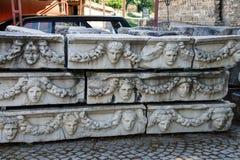 Greek theatre masks Royalty Free Stock Image