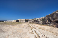 Greek Theatre ruins in Syracuse, Sicily Royalty Free Stock Images