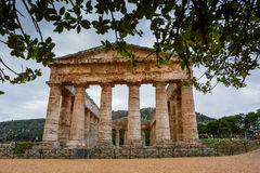 Greek Theatre of Segesta, historical landmark in Sicily, Italy Royalty Free Stock Images
