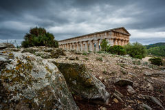 Greek Theatre of Segesta, historical landmark in Sicily, Italy Stock Image