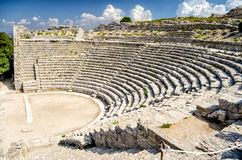 Greek Theatre of Segesta Stock Photos
