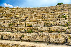 Greek Theatre of Segesta Royalty Free Stock Images