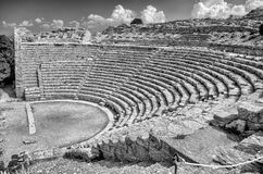 Greek Theatre of Segesta Royalty Free Stock Photos