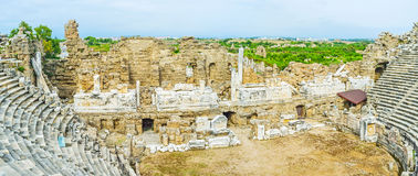 In Greek Theatre of Side Royalty Free Stock Photo