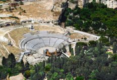 Greek Theatre of Syracuse Sicily Royalty Free Stock Photo