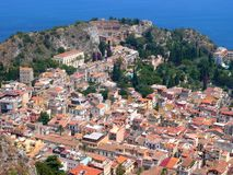 Greek Theatre Taormina Stock Photography
