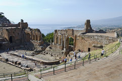Greek Theatre at Taormina Royalty Free Stock Photo