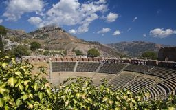 Greek Theatre Taormina. Greek Theatre in Taormina, Sicily Stock Images