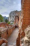 Greek theatre of Taormina: detail Royalty Free Stock Image
