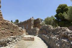 Greek theatre of Taormina Stock Image
