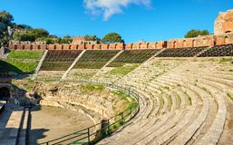 Greek Theatre. Taormina, Sicily, Italy stock photography