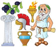 Greek theme collection 1 Royalty Free Stock Photography