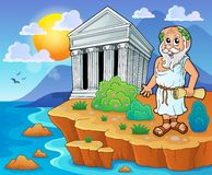 Greek theme image 2 Royalty Free Stock Images