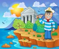 Greek theme image 4 Royalty Free Stock Images