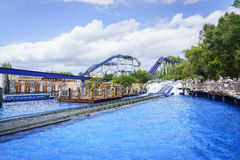 Greek themed area - Europa Park, Germany Royalty Free Stock Images