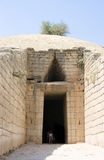 Greek tomb of agamemnon. The ancient tomb of Agamemnon or the treasury of Atreus discovered by Heinrich Schliemann Stock Photo