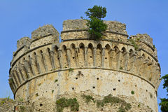 Greek tower. A photo of a greek tower Royalty Free Stock Photography