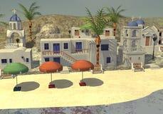 Greek town Royalty Free Stock Image