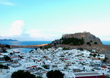 Greek town Royalty Free Stock Photo