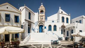 Greek town square Royalty Free Stock Photos