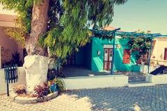 Greek town, vintage look Stock Photos