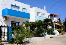 Greek townhouses, Makrigialos. Royalty Free Stock Image