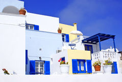 Greek  traditional architecture  in Santorini Royalty Free Stock Photos