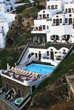 Greek  traditional architecture  in Santorini Royalty Free Stock Photography